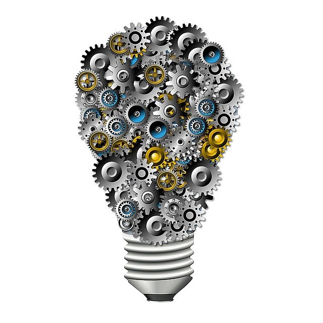 Gears, Bulb, Innovation, Technology, Idea, Creativity