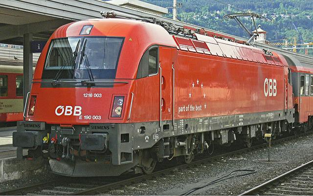 Electric Locomotive, Innsbruck Hbf, öbb