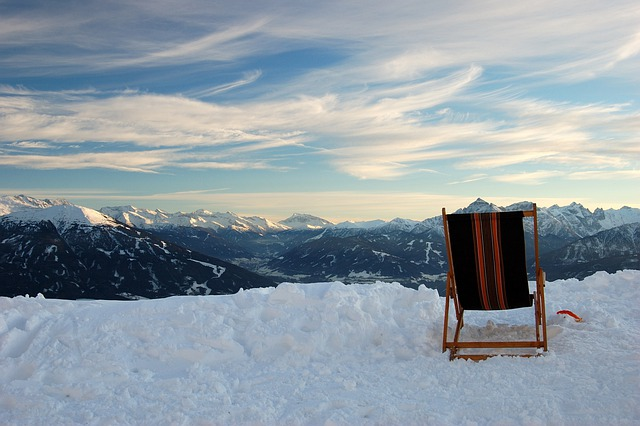Innsbruck, Mountains, Snow, Sunset, Camp Bed, Mood
