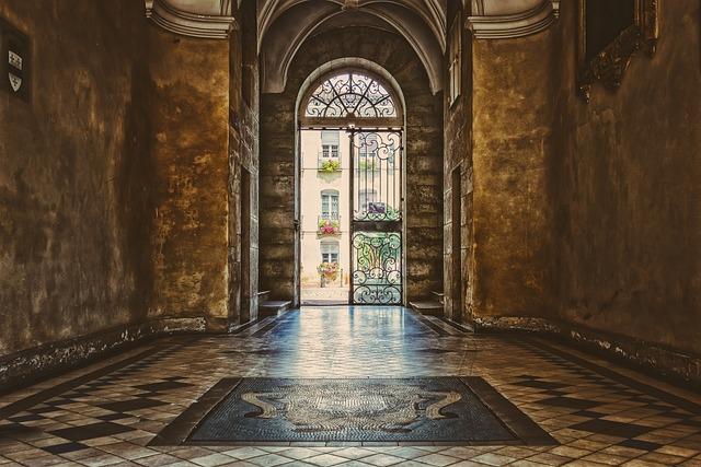 Hallway, Corridor, Lobby, Foyer, Input, Architecture