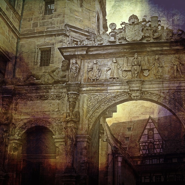 Bamberg, Archway, Input, Historically, Facade, Building