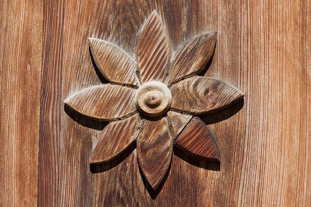 Door, Ornament, Input, Old, Wood, Flower, Stylized
