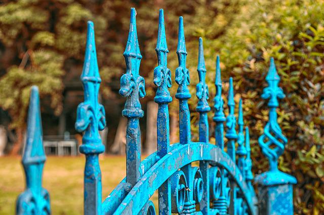 Fence, Goal, Input, Iron Gate, Garden, Decorative