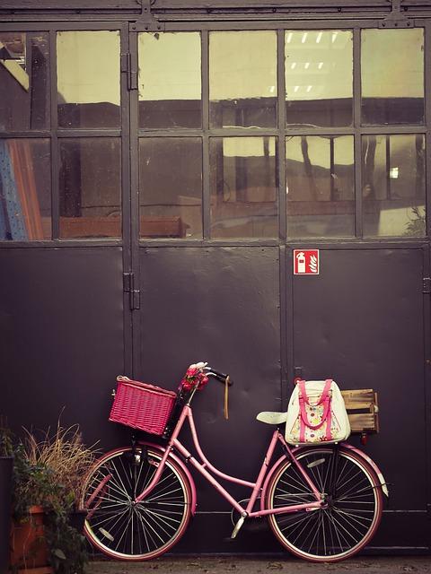 Bike, Backyard, Goal, Building, Input, Old, Pink