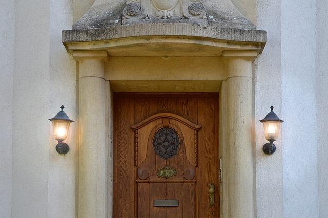 Villa, Input, Portal, Columnar, Lanterns, Home