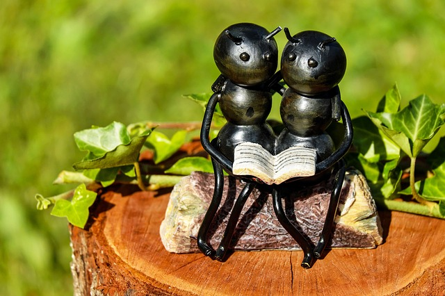 Ants, Insect, Artwork, Iron, Sitting, Affection