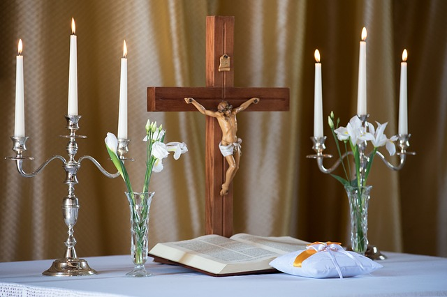 Candle, Inside, Table, Candlestick, Decoration, Church