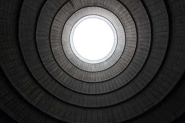 Belgium, Charlerois, Cooling, Tower, Inside, Power