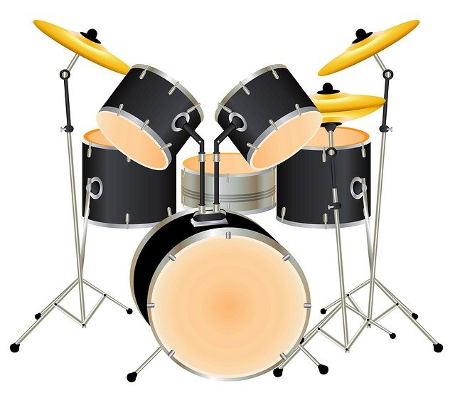 Drums, Drum Set, Background, Music, Instrument
