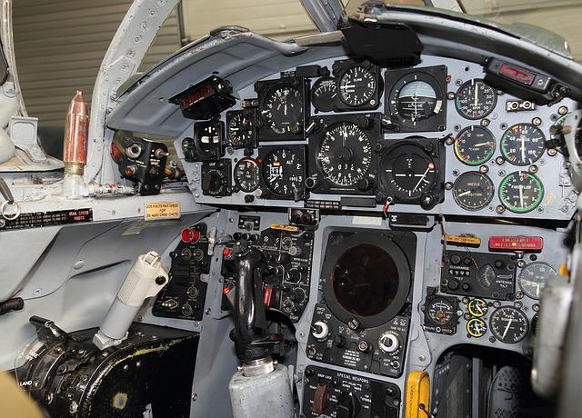 Aircraft, Fighter, Cockpit, Instrument, Panel, Gauges