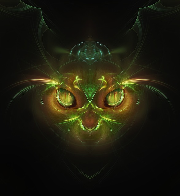 Cat, Abstract, Fantasy, Insubstantial, Desktop, Flame