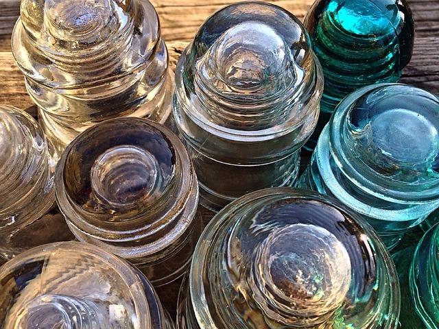 Insulators, Glass, Antique, Insulation