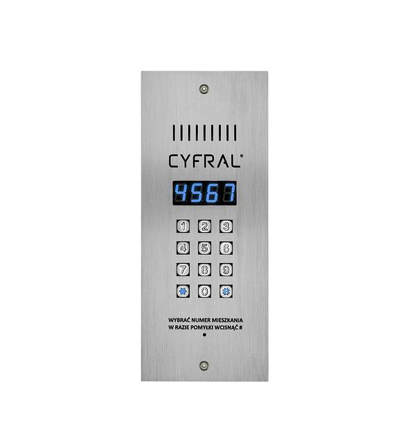 Intercom, Digital, Mechanical Keyboard, Blue Display
