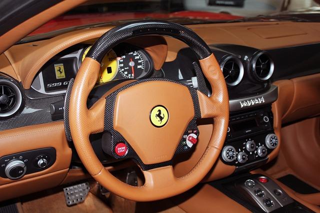 Free Photo Interior Car Steering Wheel Auto Dashboard Ferrari Max