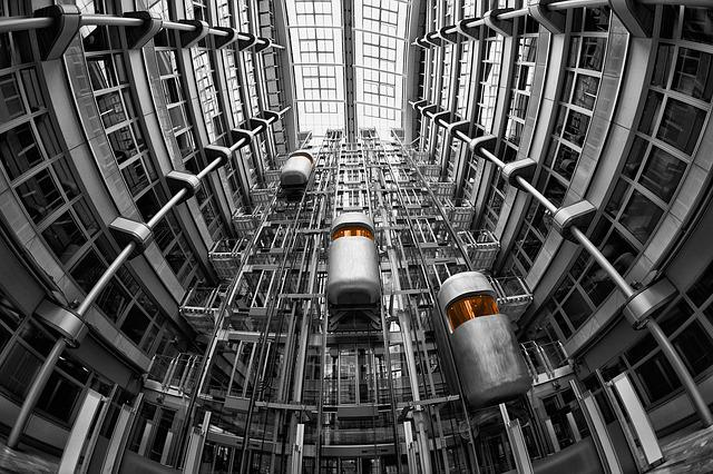 Lifts, Architecture, Ludwig Erhard Haus, Interior