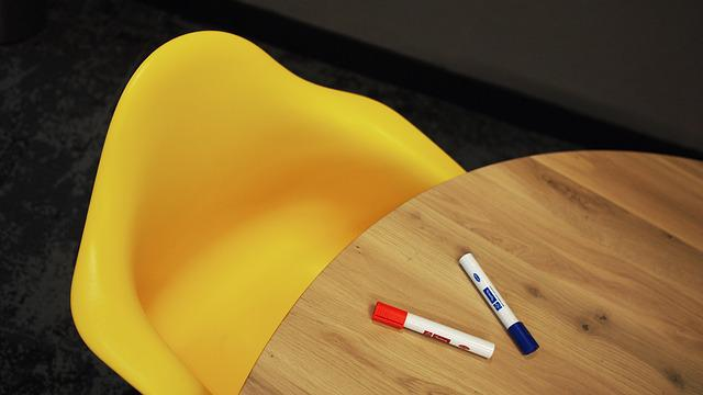 Office, Chair, Meeting, Room, Interior, Table, Yellow