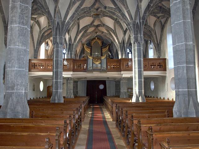 Weistrach, Hl Stephan, Church, Interior, Aisle, Benches