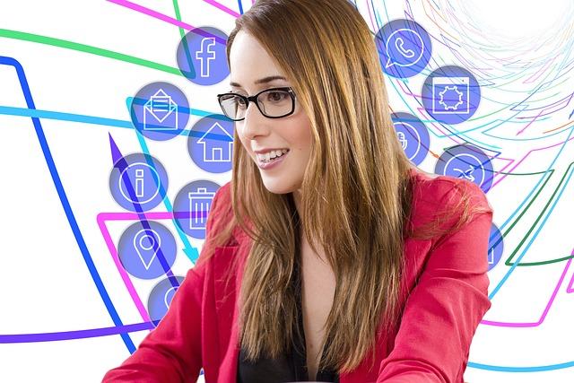Businesswoman, Social Media, Media, Social, Internet
