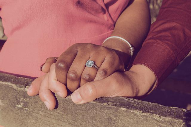 Engaged, Engagement, Love, Interracial, Couple, Romance