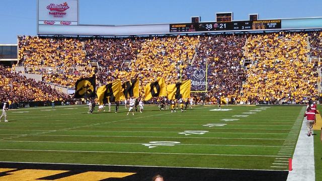 Iowa, Hawkeyes, Stadium, Iowa City, Football, Black