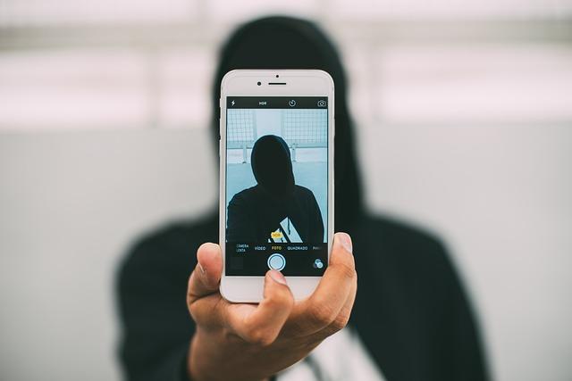 Iphone, Taking Photo, Phone, Anonymous, Selfie, Hoody