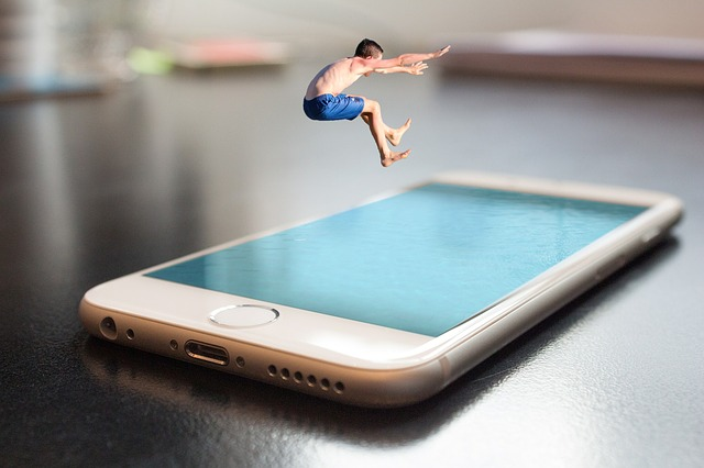 Smartphone, Iphone, Apple, Jump, Summer, Boy, Child