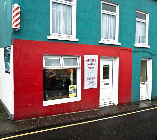 Ireland Barber Beauty Shop Barbershop Building Red