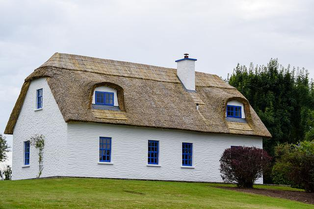 Cottage, Thatched Roof, Ireland, Traditional