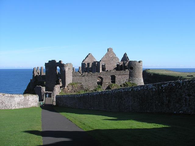 Ireland, Castle, Irish, Travel, Ruins, Dunluce Castle