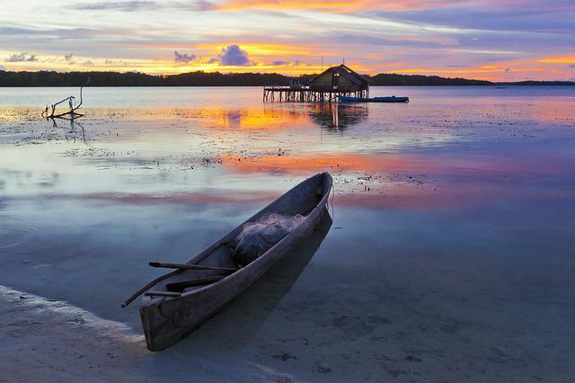 Landscape, Irie, At Dusk, Indonesia, Halmahera Islands