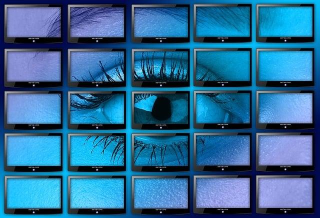Monitor, Monitor Wall, Big Screen, Eye, Lid, Iris