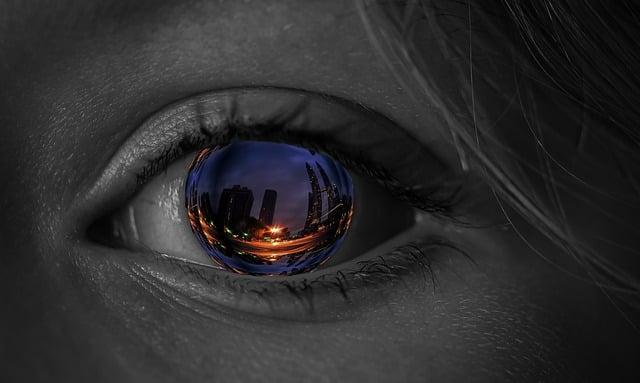 Eye, Iris, City, Skyscraper, Screen Background