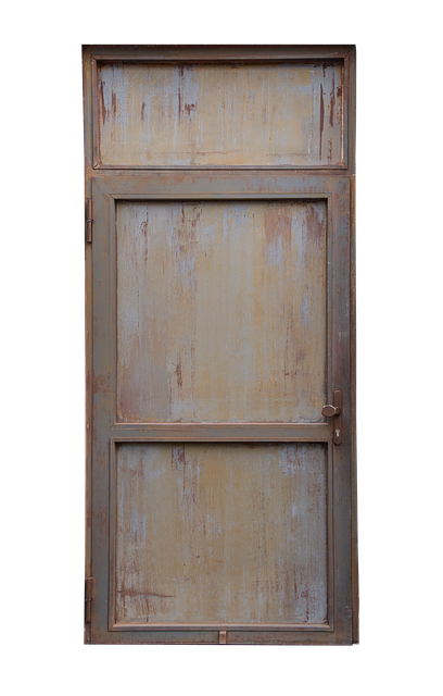Door, Iron Door, Isolated, Cut Out, Robust, Steel