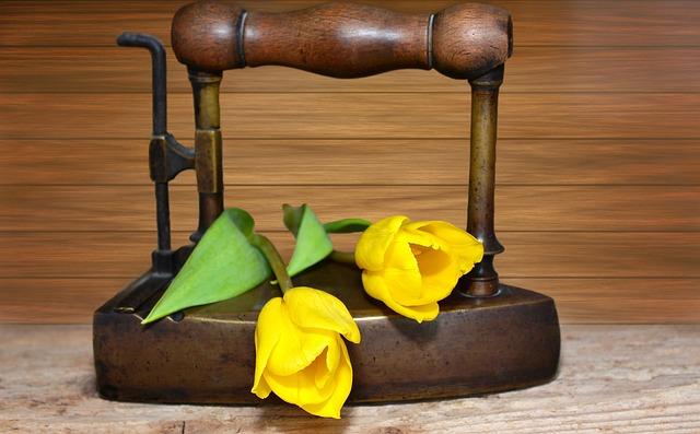 Iron, Old, Old Iron, Tulips, Yellow, Yellow Flowers