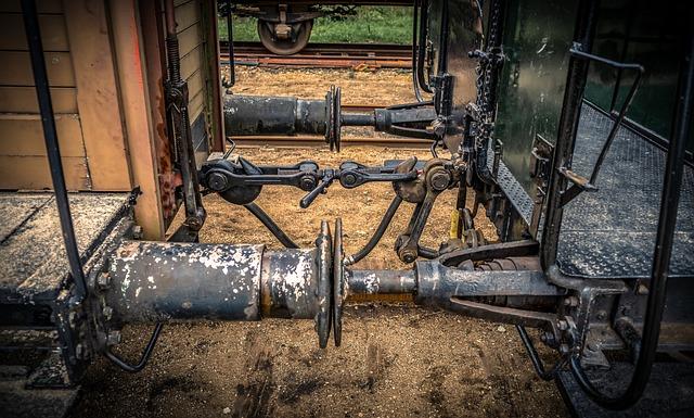 Railway Carriages, Buffer, Clutch, Rails, Iron, Metal