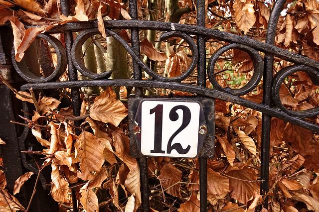 Gate, Wrought Iron, Iron, Number, Twelve, 12