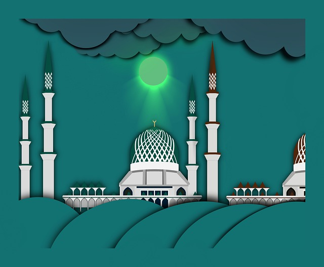 Mosque, Temple, Drawing, Architecture, Islamic