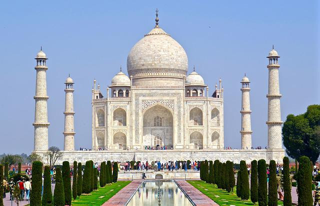 Taj Mahal, India, Agra, Islamic, Marble, Tomb