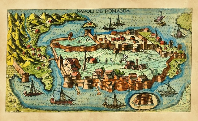 Medeival, Ancient, Map, Fortress, Island, Seaport, Town