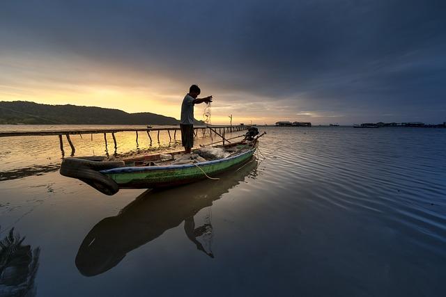 Island, Vietnam, Fishing, The Fishermen, Silhouette