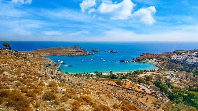 Greece, Greek, Isle, Island, Beach, Lindos, Rhodes