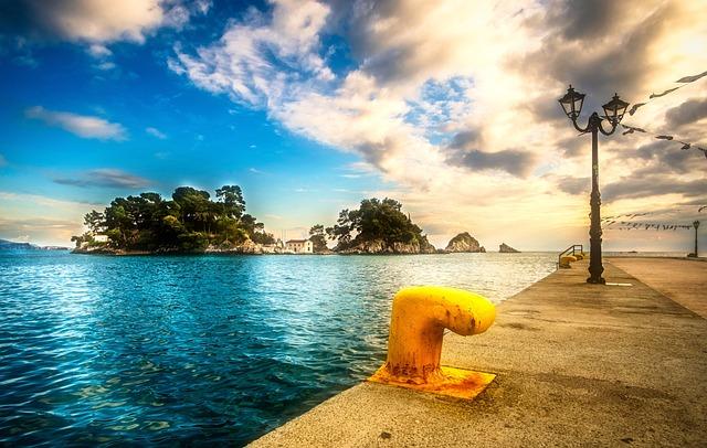 Port, Sun, Sea, Sky, Island, Greece, Scenery, Beach