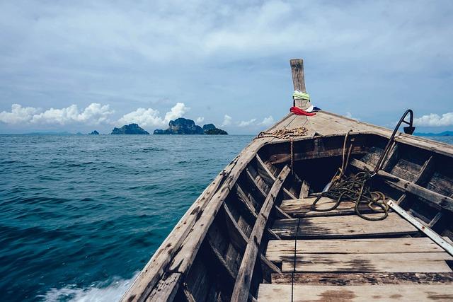 Boat, Island, Ocean, Sea, Seascape, Water, Watercraft