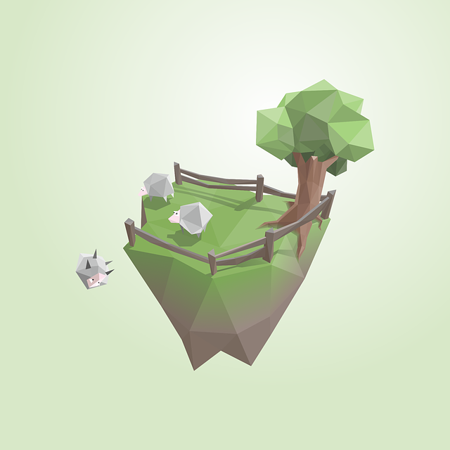 Island, Sheep, Low Poly, Satire