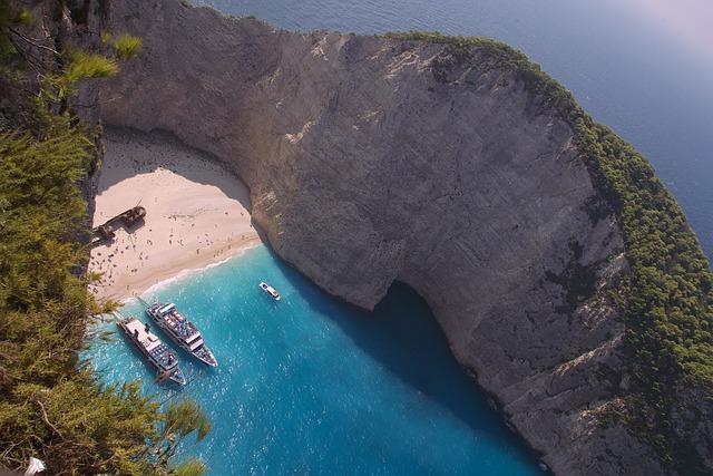Zakynthos, Lagoon, Island, Ship Wreck, Greece
