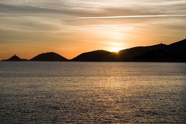 Corsican, Ajaccio, Sunset, Islands, Mediterranean