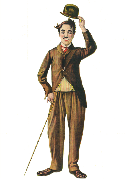 Charlie, Chaplin, Famous, Vintage, Isolated