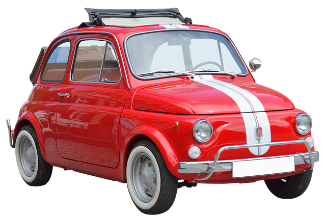 Isolated, Fiat 500, Oldtimer, Cinquecento, Automotive