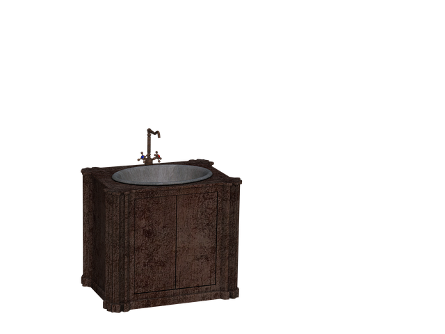 Bathroom Sink, Cabinet, Faucet, Digital Art, Isolated