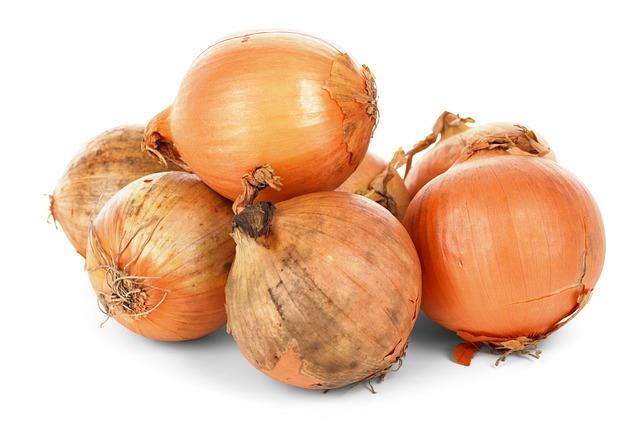 Onion Bulbs, Food, Fresh, Healthy, Ingredient, Isolated